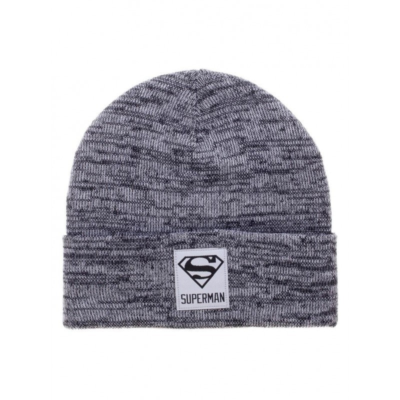 Official DC Comics - Superman patch grey heather beanie