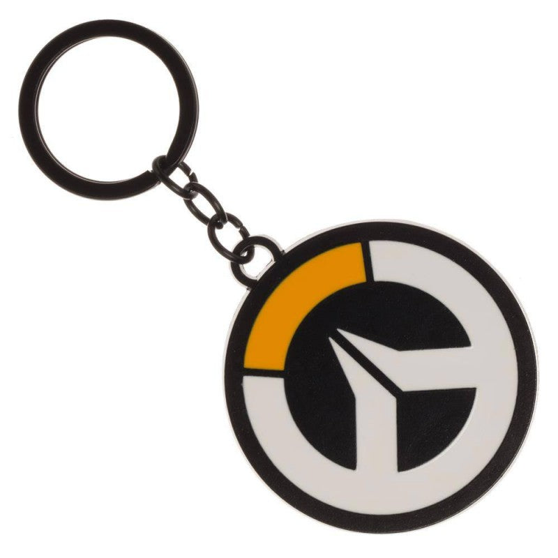 Official Overwatch logo metal keyring