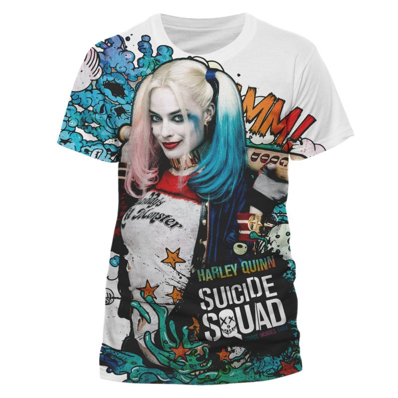 Official DC Comics Suicide squad Harley Quinn poster all over print t-shirt