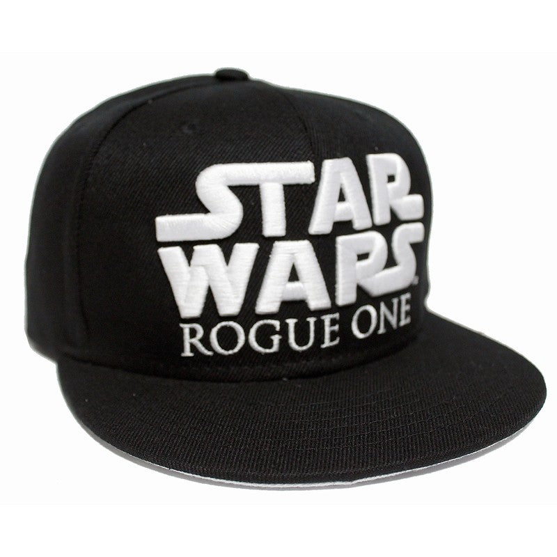 Official rogue one a Star wars story symbol / logo black snapback cap