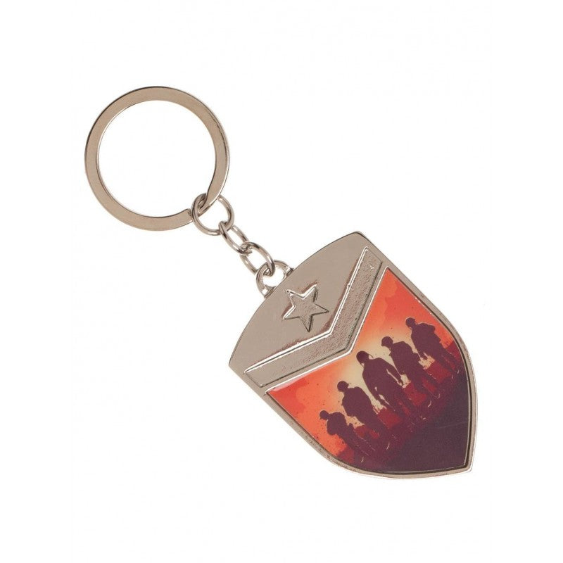 Call of duty ww2 - shield printed metal keyring