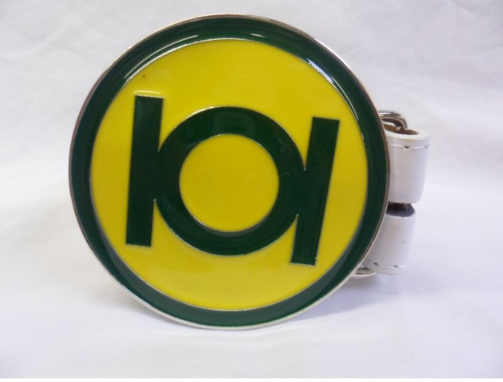 Green Lantern green and yellow symbol buckle with belt