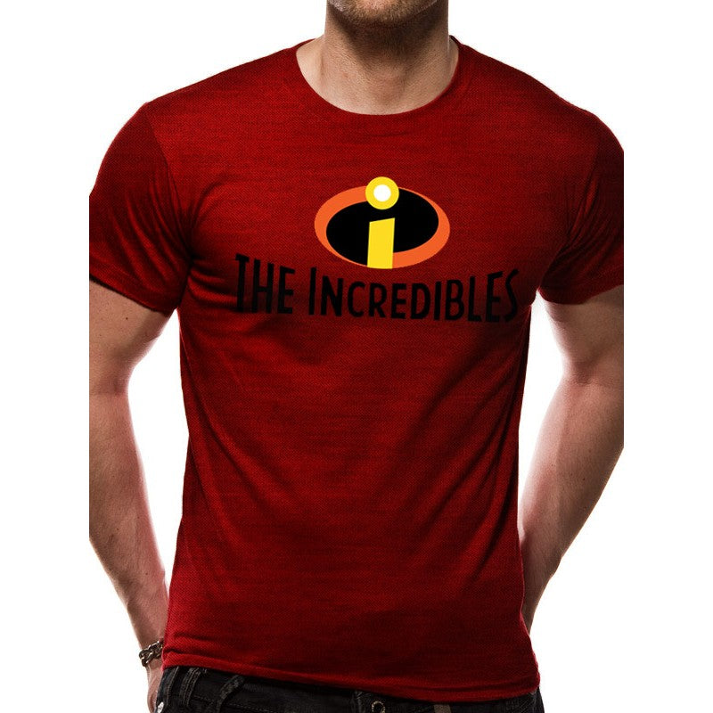 Official Disney / Pixar - the Incredibles logo / symbol red t-shirt