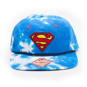 DC Comics Superman sky & logo all-over-print snapback cap