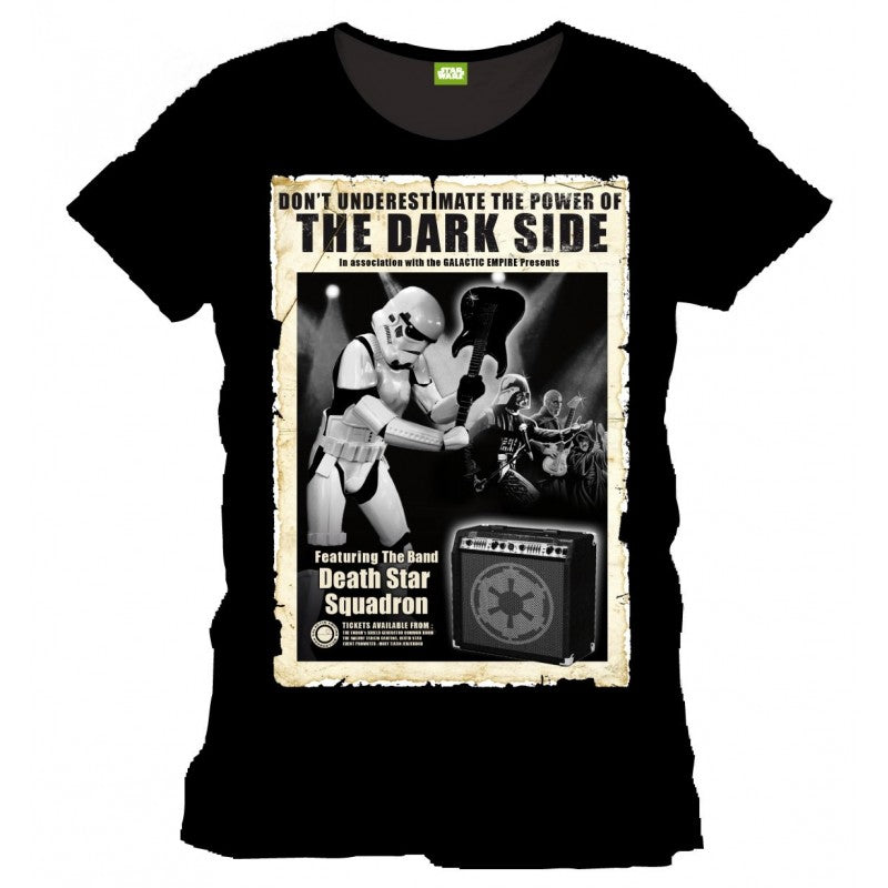 Star wars 'dont underestimate the power of the dark side' music poster t-shirt