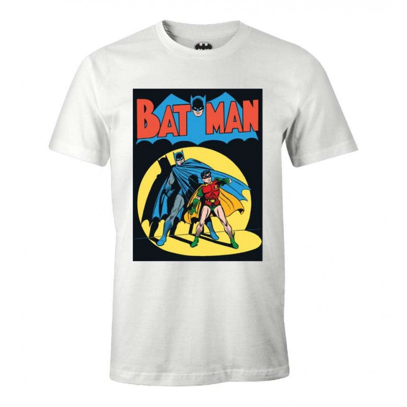Official DC Comics Batman 9 comic cover print white t-shirt