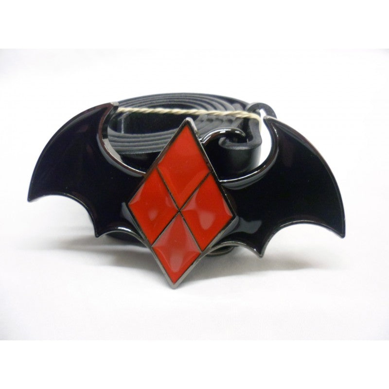 DC Comics Batman: Harley Quinn diamond bat buckle