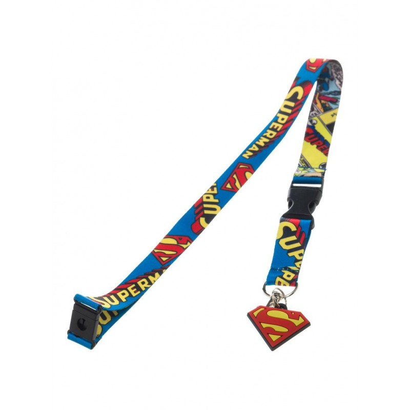 Official DC comics Superman all over comic print lanyard