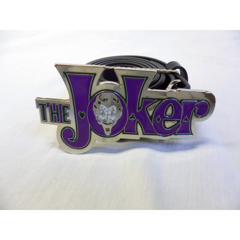 DC Comics Batman the Joker symbol buckle with belt