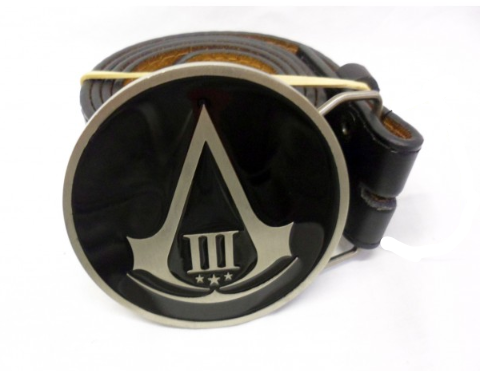 Assassins creed [3] logo round buckle with belt