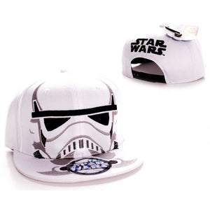 Star wars Storm trooper close up face white snapback cap