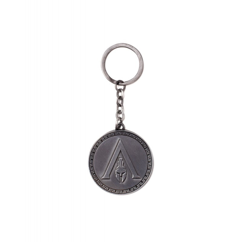 Assassin's creed odyssey - silver symbol round metal keyring