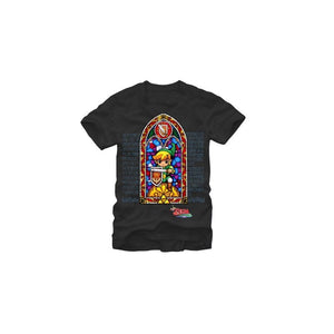 The legend of Zelda: wind waker stained glass link t-shirt
