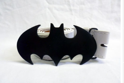 Classic black cut out Batman symbol buckle with belt