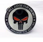 'God will judge our enemies * we'll arrange the meeting' tactical morale buckle with belt