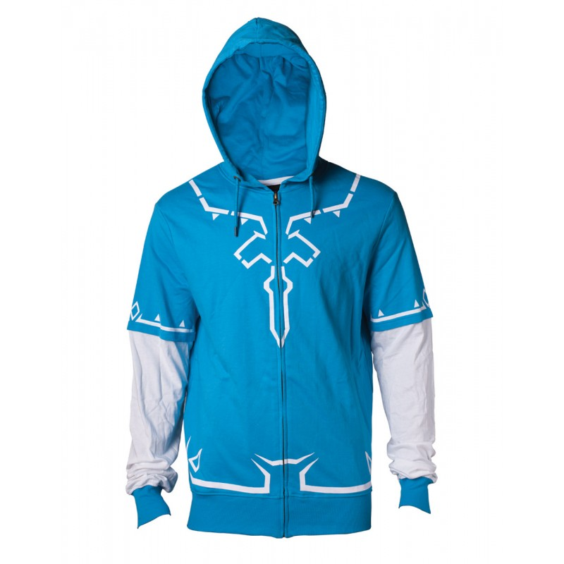 Official Nintendo - the legend of Zelda: breath of the wild - Link's champions tunic zip hoodie jumper