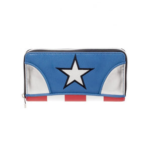 Official Marvel comics - Captain America - costume styled zipper purse