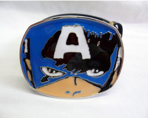 Captain America eyes / mask buckle with belt