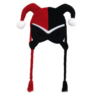Official DC Comics Harley Quinn costume laplander beanie