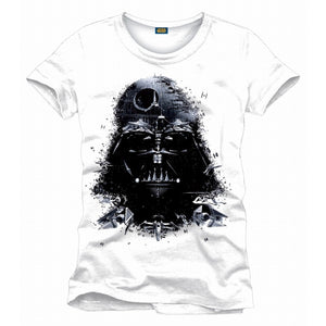 Star wars Darth Vader tie fighter drawing white t-shirt