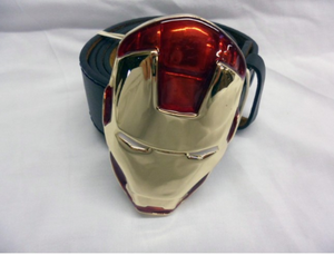 Iron man full mask buckle with belt