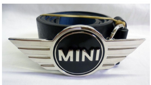 Mini Cooper logo buckle with belt