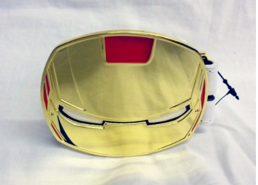 Iron man close up mask buckle with belt