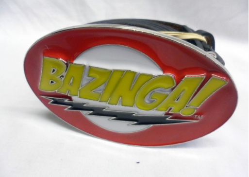 "The big bang theory ""BAZINGA""! symbol buckle with belt"