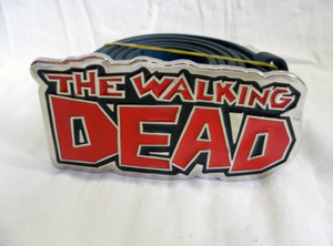 AMC's the walking dead comic logo buckle with belt