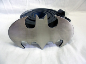 Classic grey Batman bat symbol buckle with belt