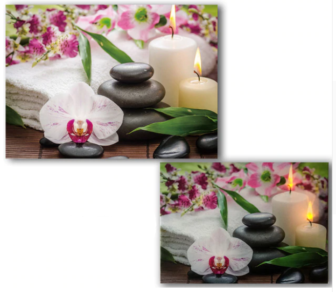 LED Orchid bamboo and candle