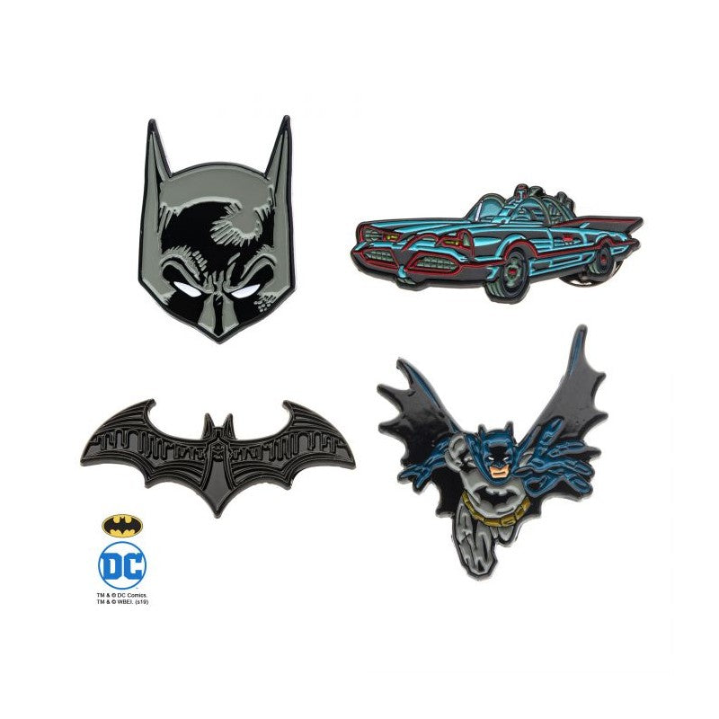 DC Comics Batman 4 piece metal pin badge