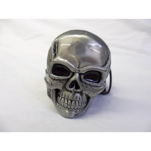 Massive metal skull buckle with belt
