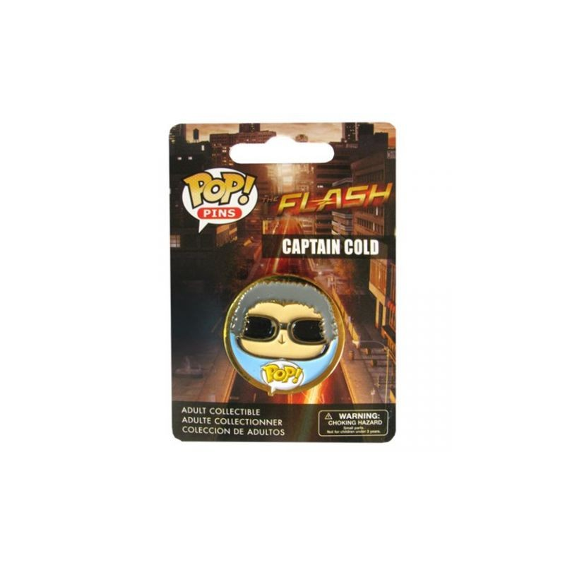 Official DC Comics the Flash (tv series) Captain Cold pop! Pin badge