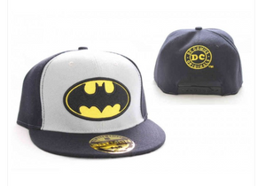 DC Comics Batman symbol college black & grey snapback cap