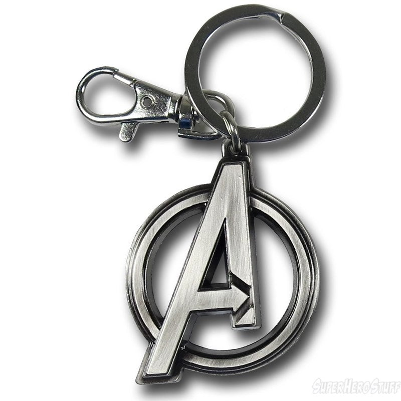 Official Marvel's Avengers logo metal keyring