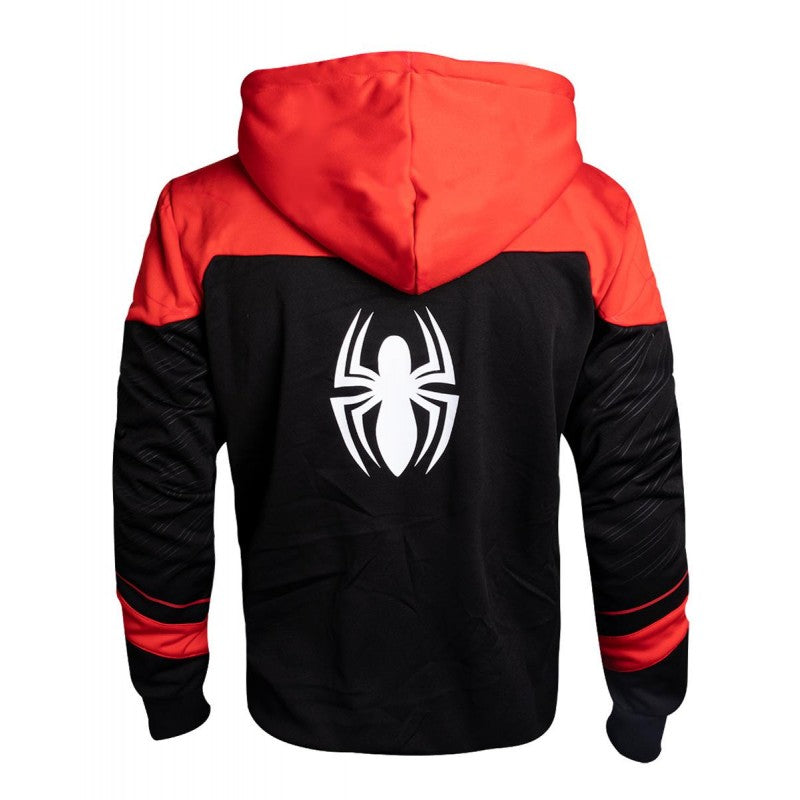 Official Marvel comic the amazing Spider-man suit up costume red zip hoodie jumper