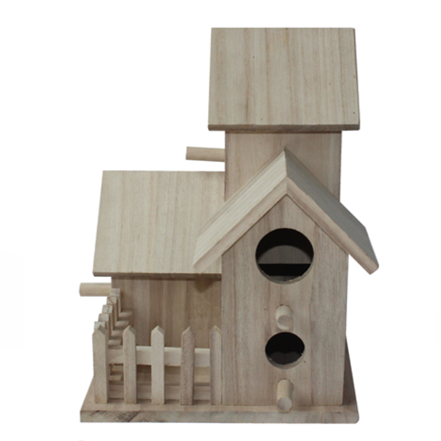 Wooden outdoor bird house