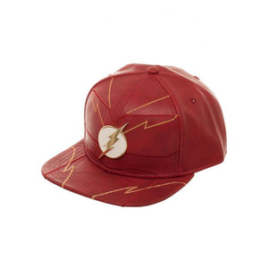 Official DC Comics - the Flash rebirth metal symbol red PU snapback cap