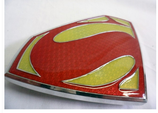 Massive Superman: man of steel buckle with belt