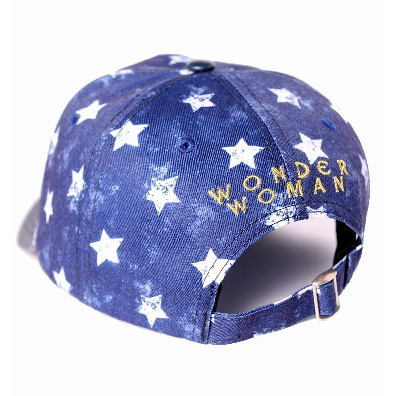 Official DC Comics - Wonder woman symbol stars pattern print strapback baseball cap