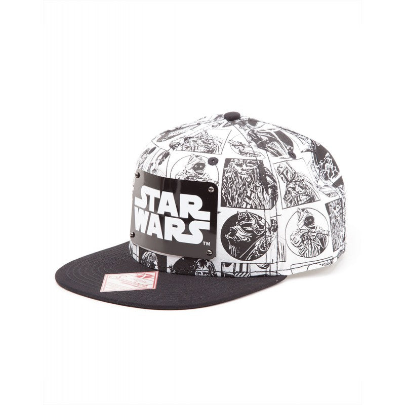 Official Star wars characters comic print snapback cap