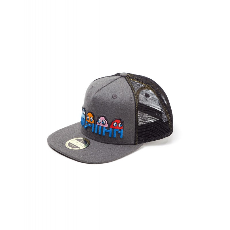 Official Pac-man, Inky, Clyde, Pinky & Blinky line up trucker snapback cap
