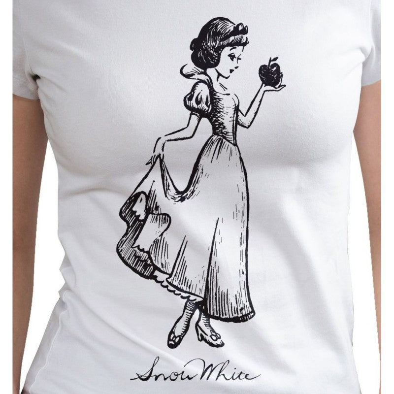 Disney - Snow White sketch drawing white t-shirt
