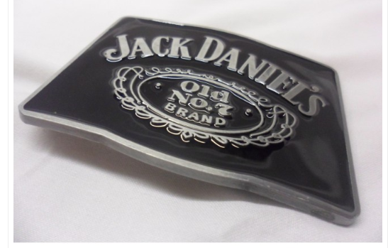 Jack Daniels 'old no7 brand' black buckle with belt