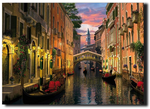 LED canvas Venice at dusk