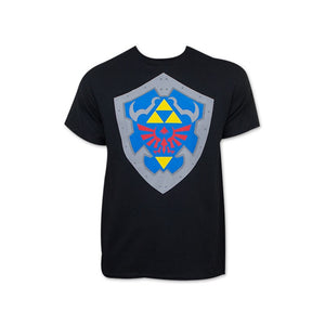 The legend of Zelda: Hylian shield black t-shirt