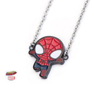 Marvel comics: the amazing Spider-man cartoon pendant on chain necklace