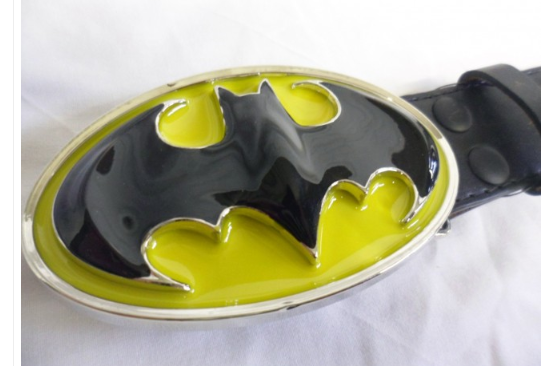 Classic 3D Batman symbol buckle with belt