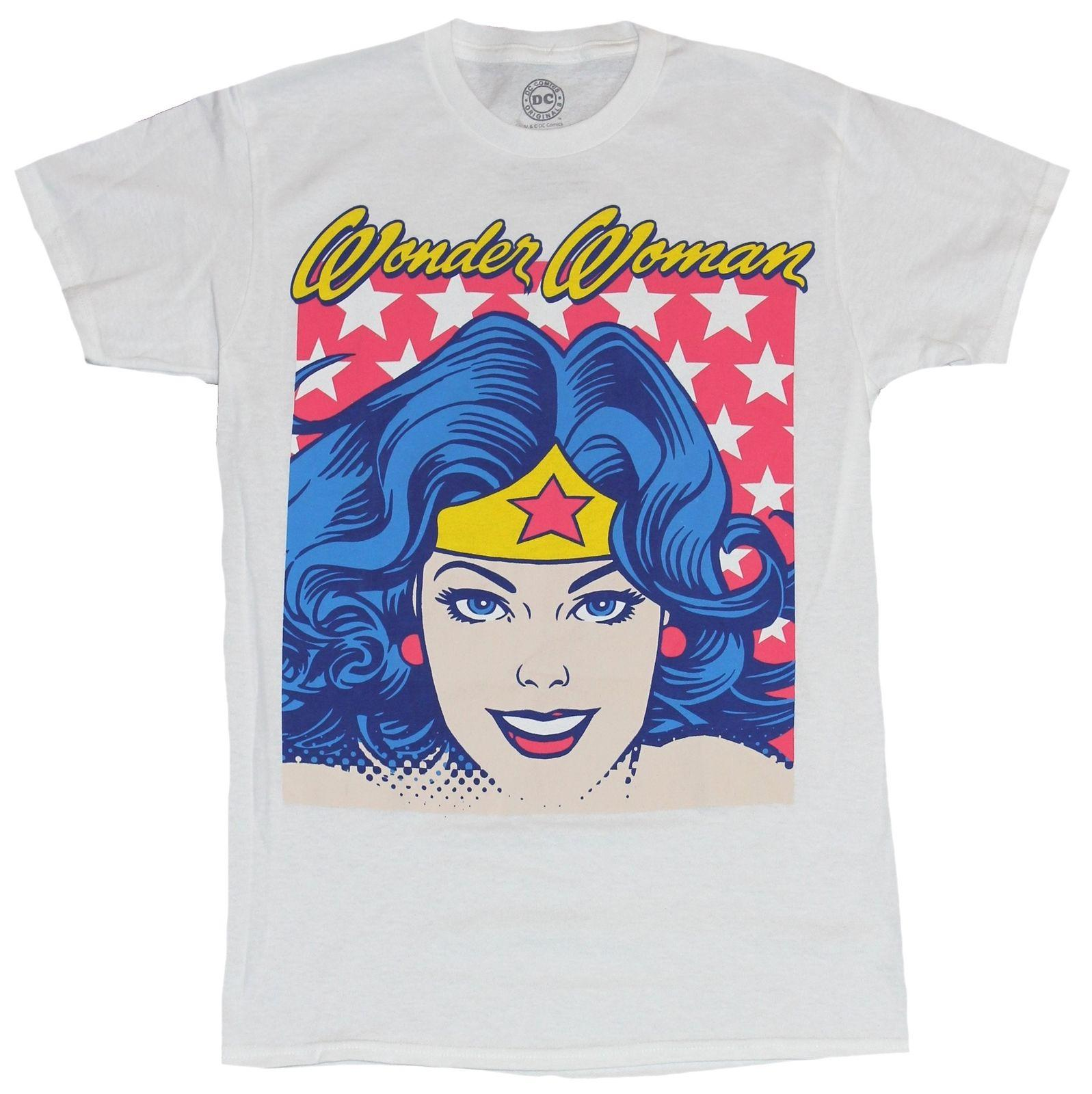 Official DC Comics - Wonder woman retro cartoon white t-shirt